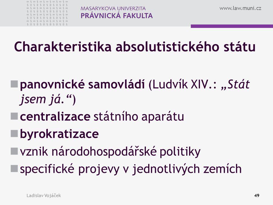 Charakteristika absolutistického státu