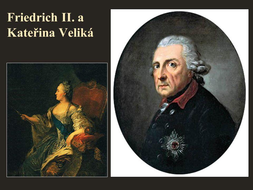 Friedrich II. a Kateřina Veliká