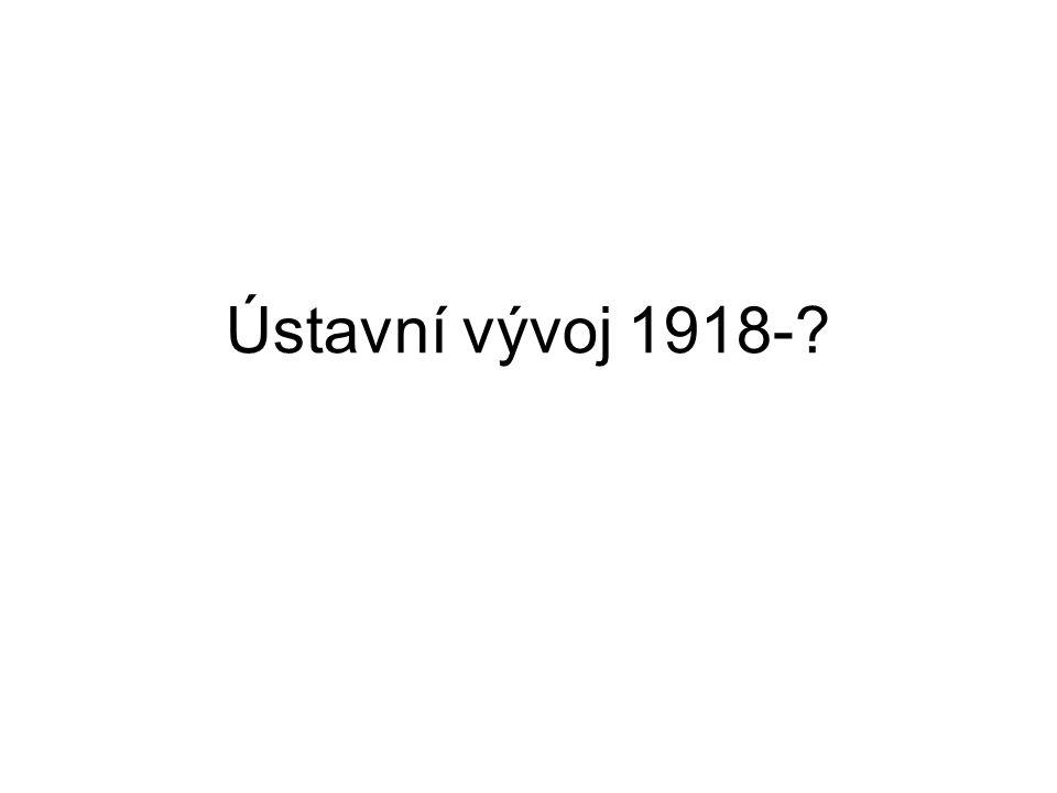 Ústavní vývoj 1918-