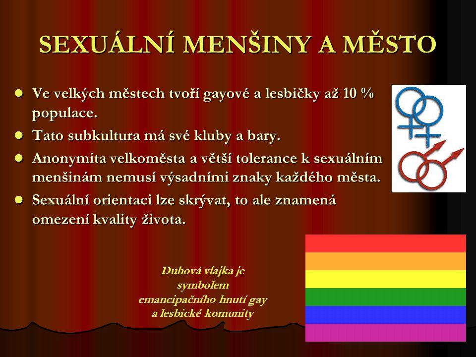 SEXUÁLNÍ MENŠINY A MĚSTO