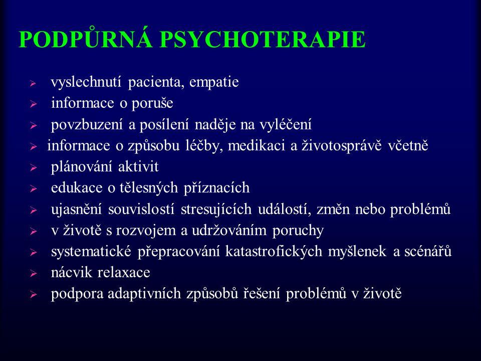 PODPŮRNÁ PSYCHOTERAPIE