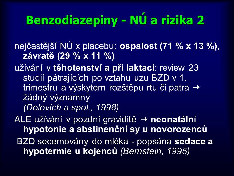 Benzodiazepiny - NÚ a rizika 2