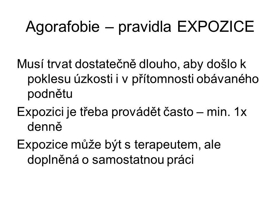 Agorafobie – pravidla EXPOZICE