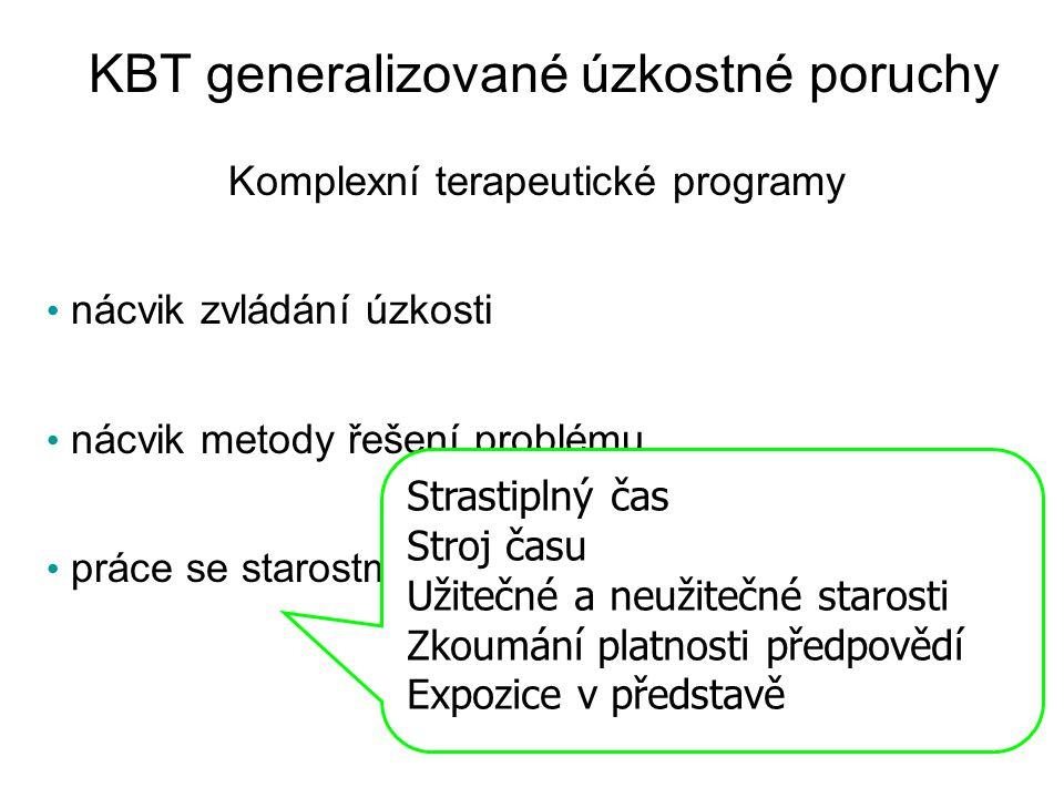 KBT generalizované úzkostné poruchy