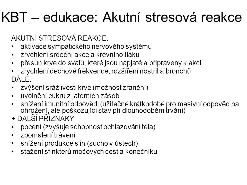 KBT – edukace: Akutní stresová reakce