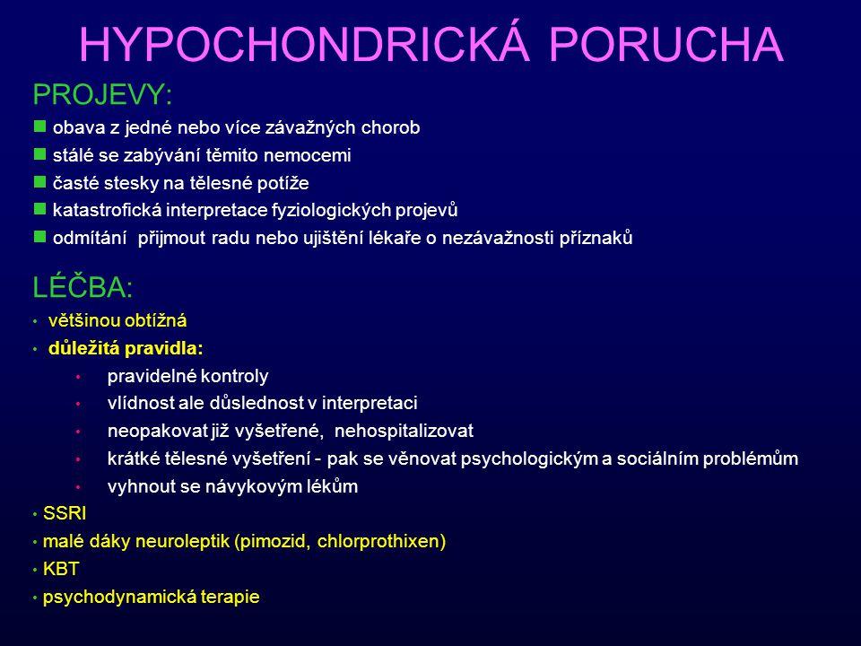 HYPOCHONDRICKÁ PORUCHA