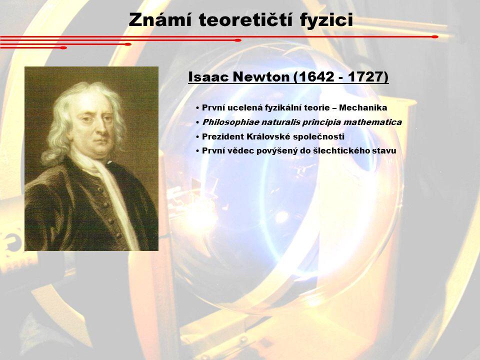 Známí teoretičtí fyzici