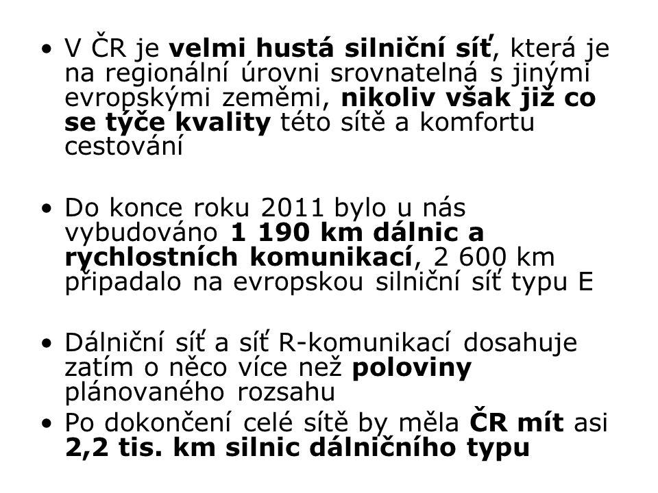 V ČR je velmi hustá silniční síť, která je na regionální úrovni srovnatelná s jinými evropskými zeměmi, nikoliv však již co se týče kvality této sítě a komfortu cestování