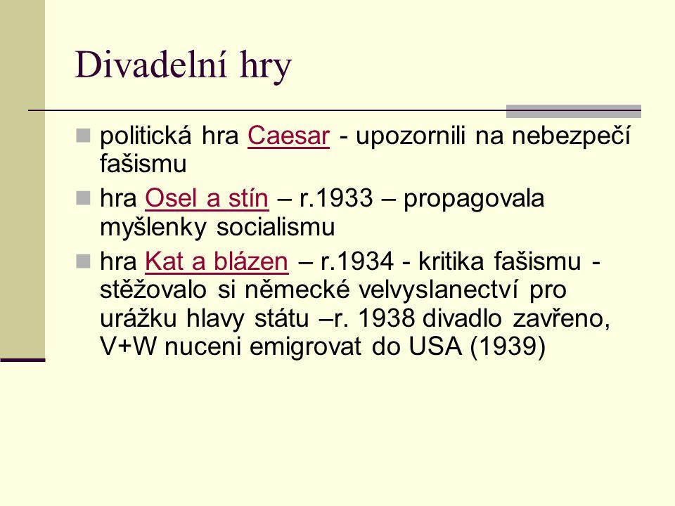 Divadelní hry politická hra Caesar - upozornili na nebezpečí fašismu