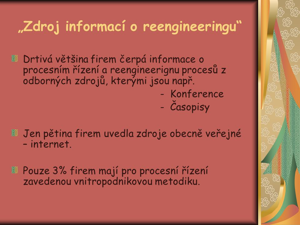 """Zdroj informací o reengineeringu"