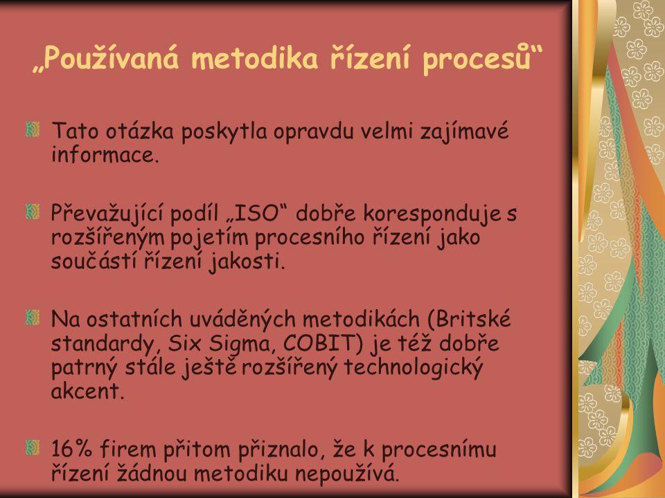 """""""Používaná metodika řízení procesů"""