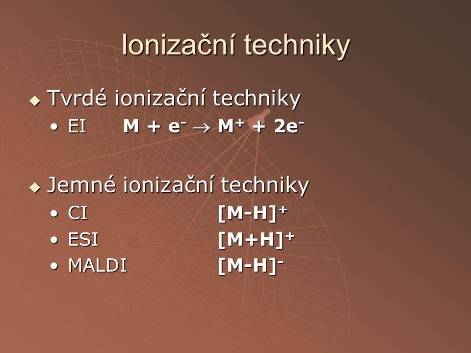 Ionizační techniky Tvrdé ionizační techniky Jemné ionizační techniky