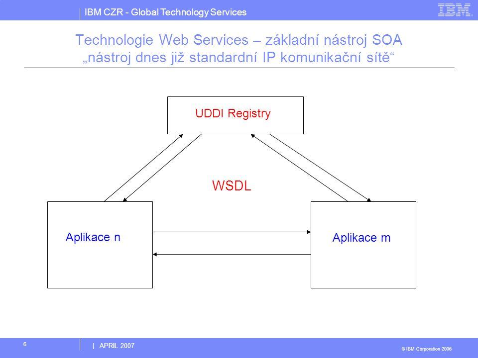 """Technologie Web Services – základní nástroj SOA """"nástroj dnes již standardní IP komunikační sítě"""