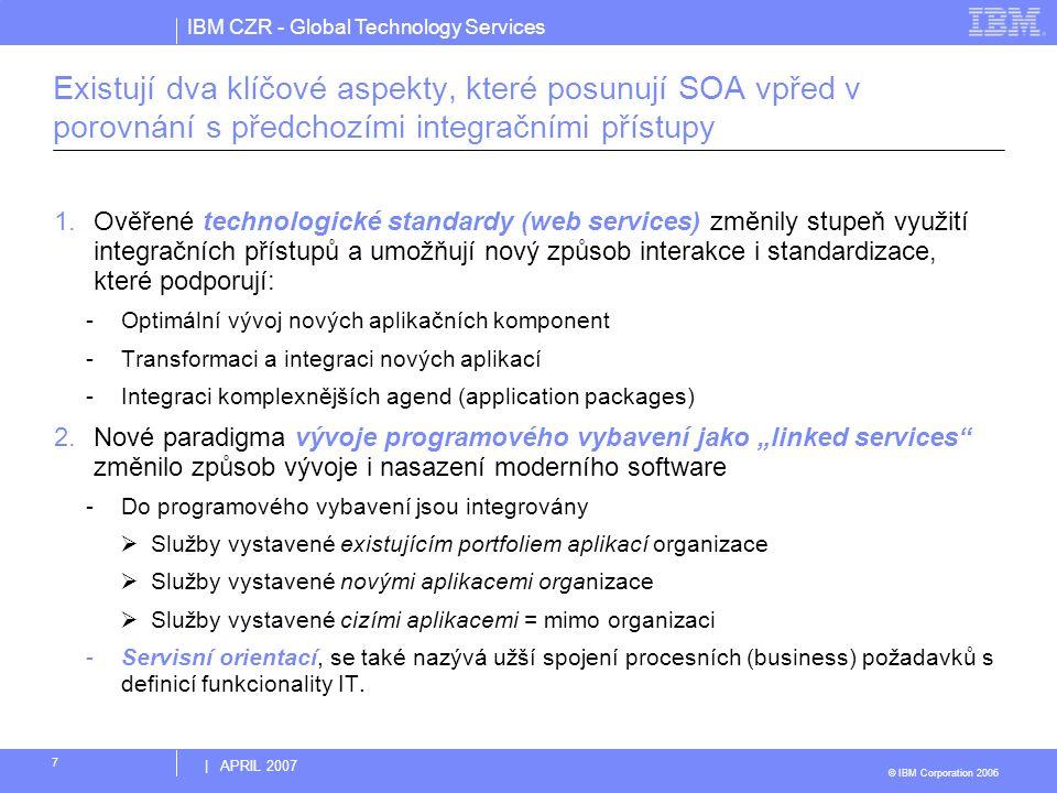 Existují dva klíčové aspekty, které posunují SOA vpřed v porovnání s předchozími integračními přístupy