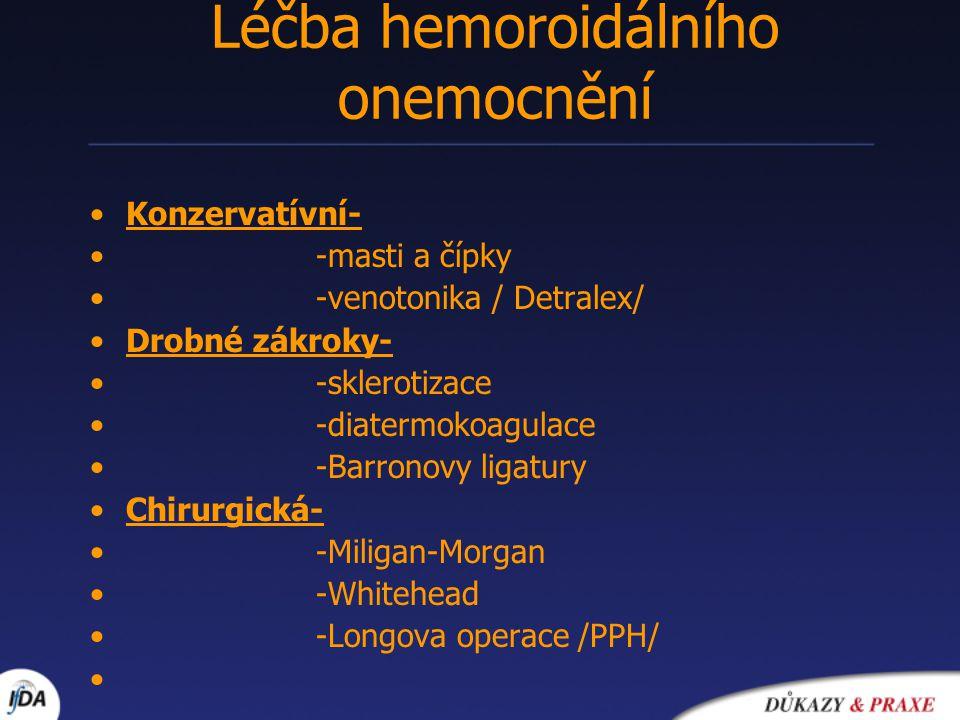 Léčba hemoroidálního onemocnění
