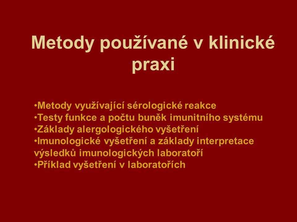 Metody používané v klinické praxi