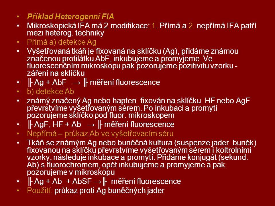 Příklad Heterogenní FIA
