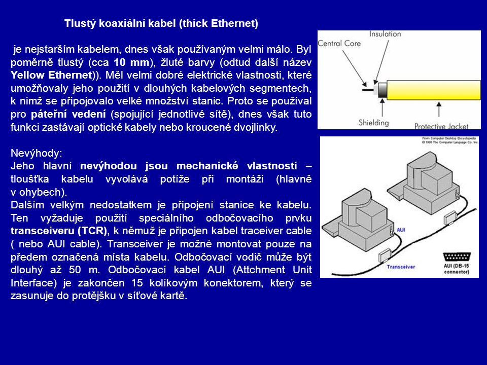 Tlustý koaxiální kabel (thick Ethernet)