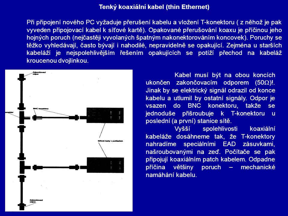 Tenký koaxiální kabel (thin Ethernet)