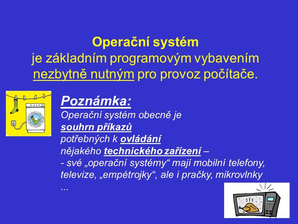 Operační systém je základním programovým vybavením nezbytně nutným pro provoz počítače.