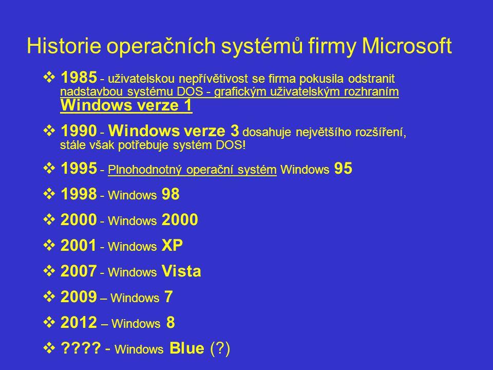 Historie operačních systémů firmy Microsoft