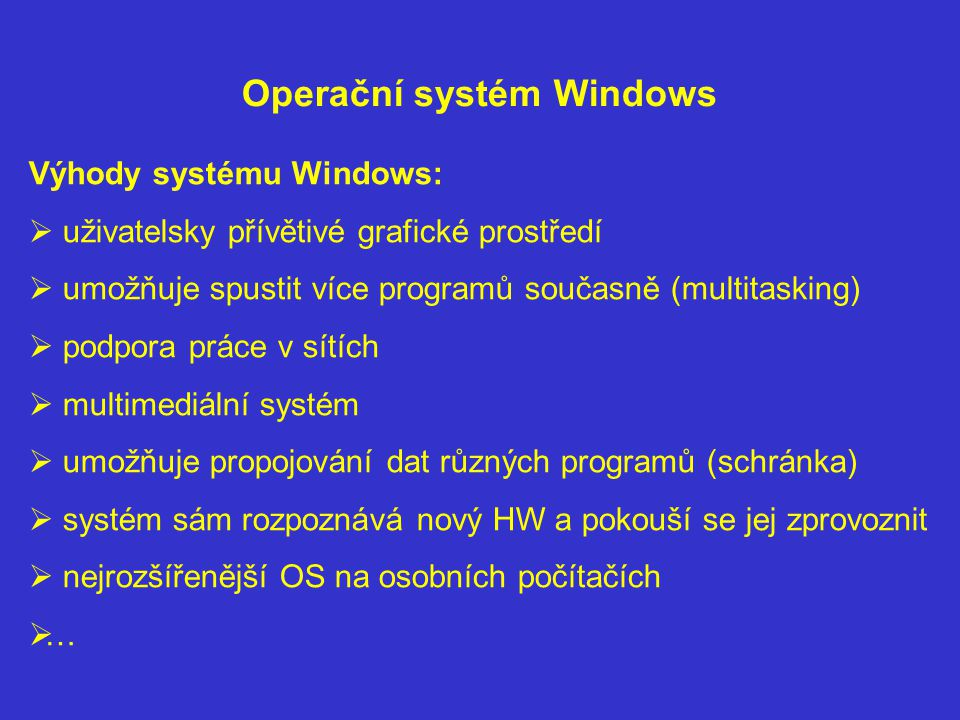 Operační systém Windows