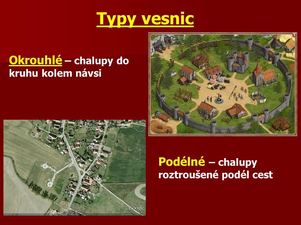 Typy vesnic Okrouhlé – chalupy do kruhu kolem návsi