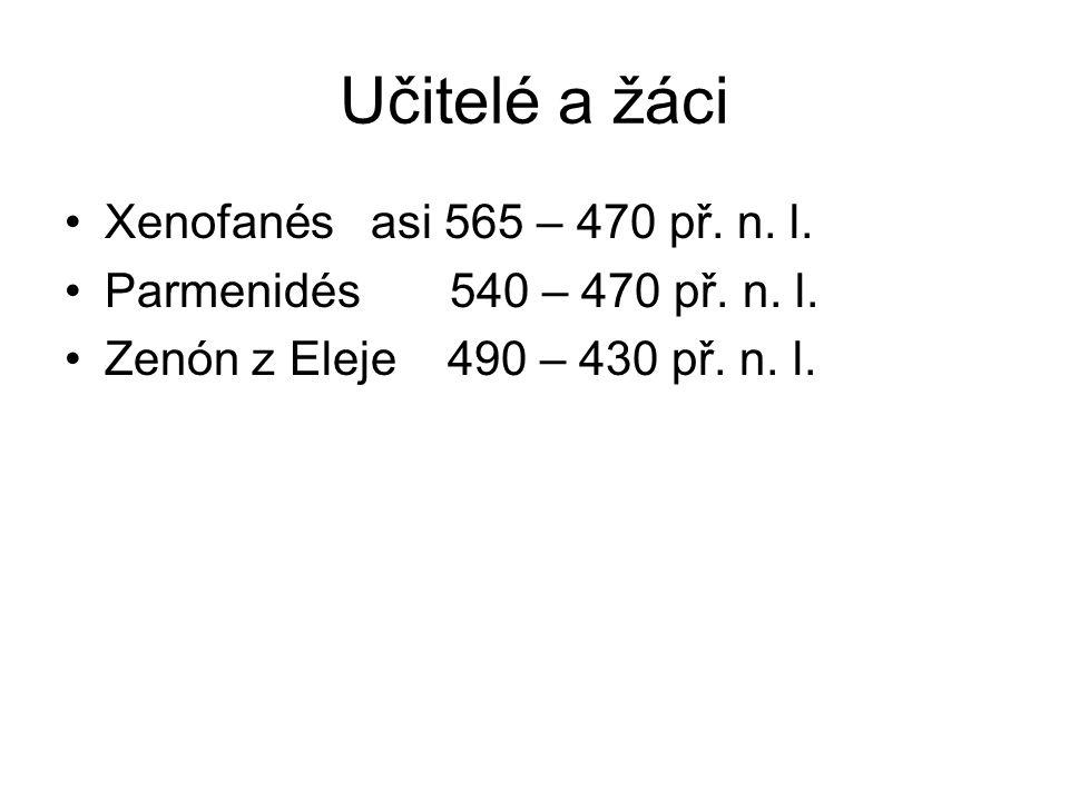 Učitelé a žáci Xenofanés asi 565 – 470 př. n. l.