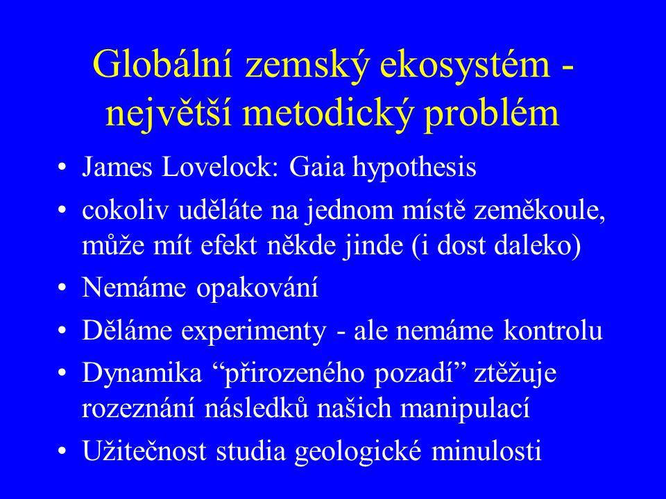 Globální zemský ekosystém - největší metodický problém