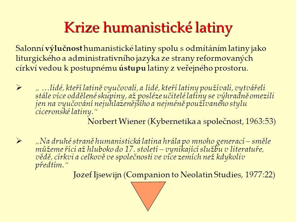 Krize humanistické latiny