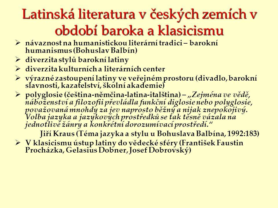 Latinská literatura v českých zemích v období baroka a klasicismu