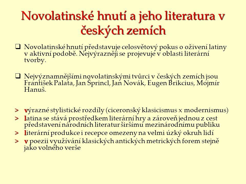 Novolatinské hnutí a jeho literatura v českých zemích
