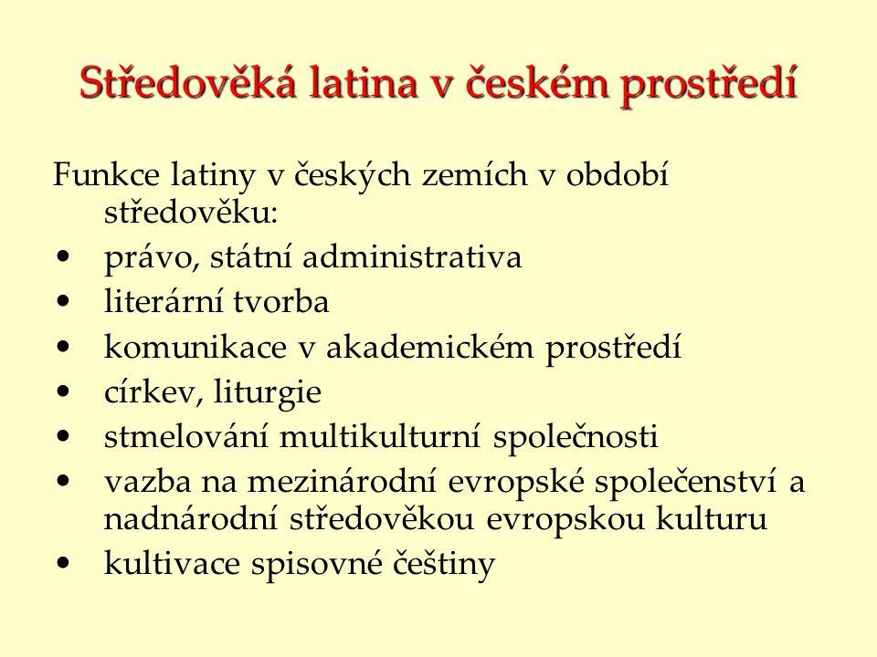 Středověká latina v českém prostředí