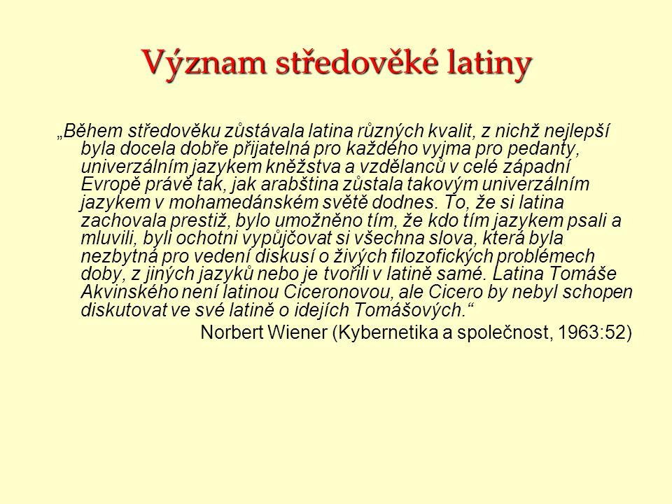 Význam středověké latiny