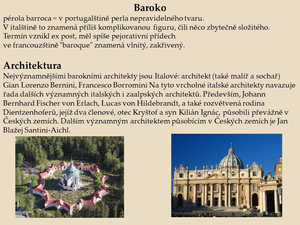 Baroko pérola barroca = v portugalštině perla nepravidelného tvaru.