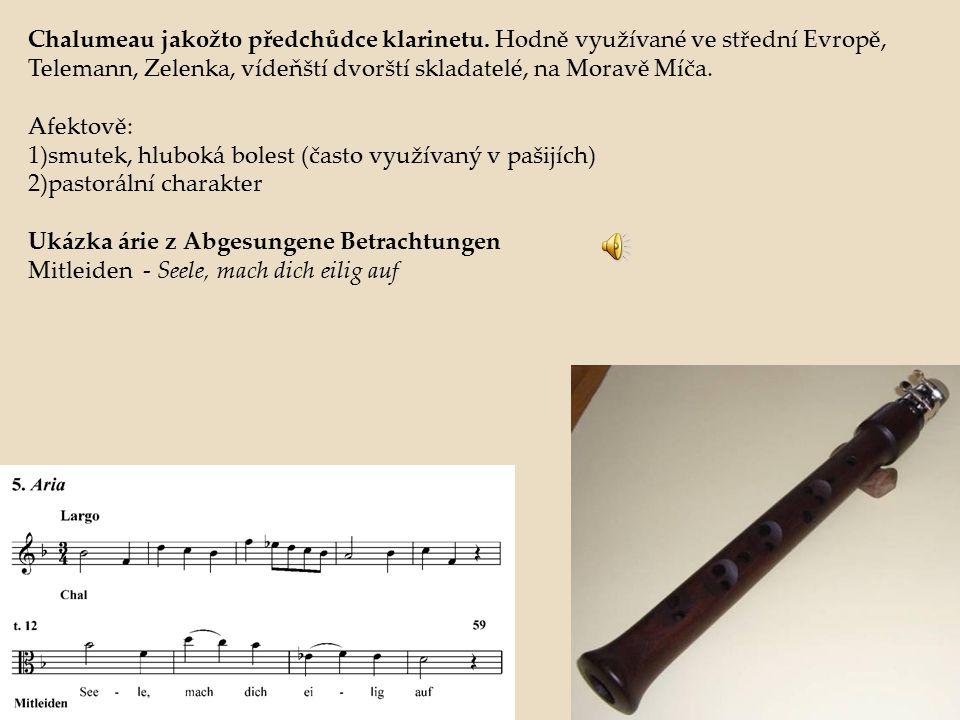 Chalumeau jakožto předchůdce klarinetu
