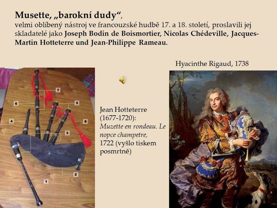 """Musette, """"barokní dudy ,"""