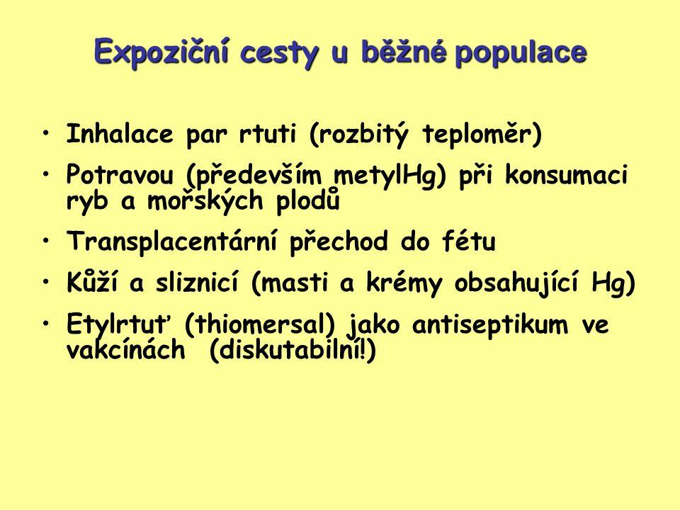 Expoziční cesty u běžné populace