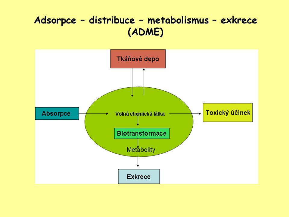Adsorpce – distribuce – metabolismus – exkrece (ADME)