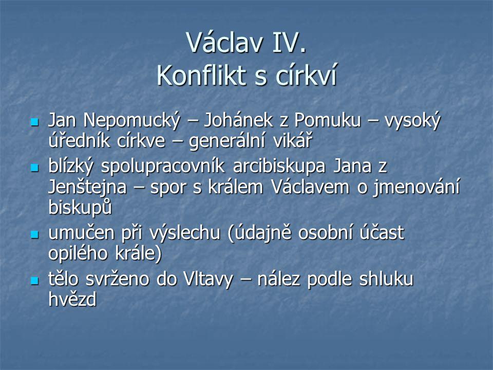Václav IV. Konflikt s církví