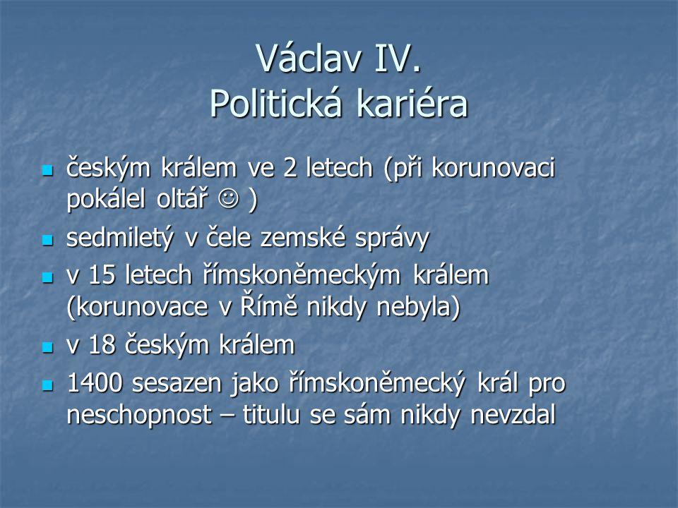 Václav IV. Politická kariéra
