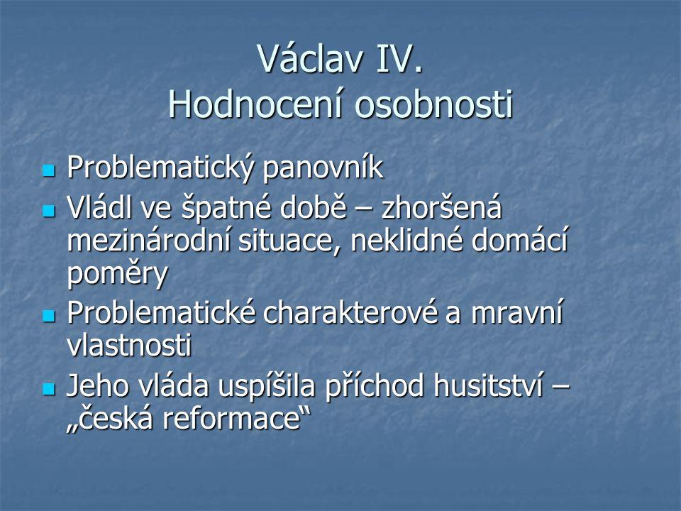Václav IV. Hodnocení osobnosti