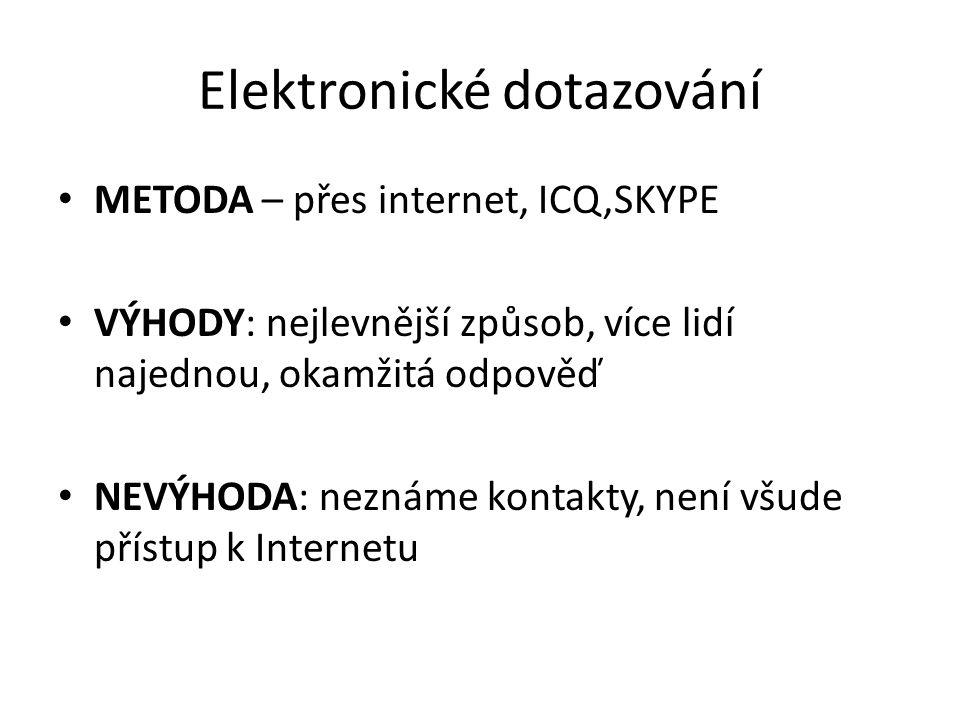 Elektronické dotazování