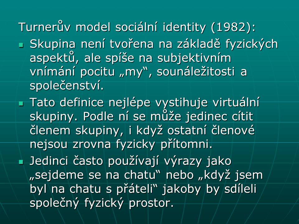 Turnerův model sociální identity (1982):
