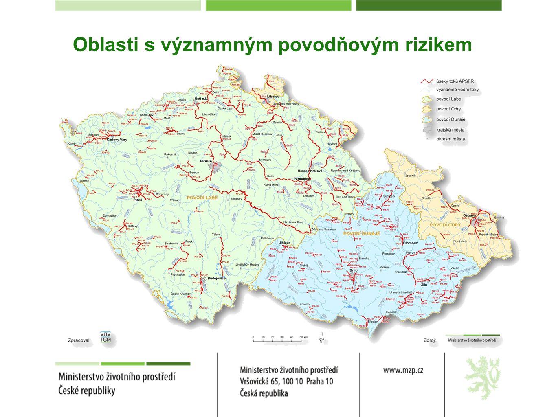 Oblasti s významným povodňovým rizikem