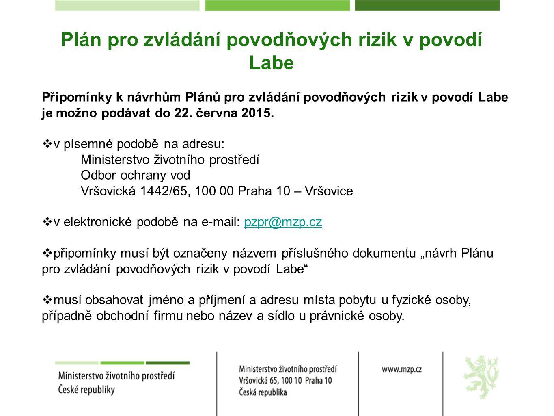 Plán pro zvládání povodňových rizik v povodí Labe