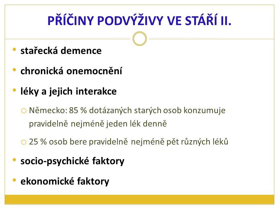 PŘÍČINY PODVÝŽIVY VE STÁŘÍ II.