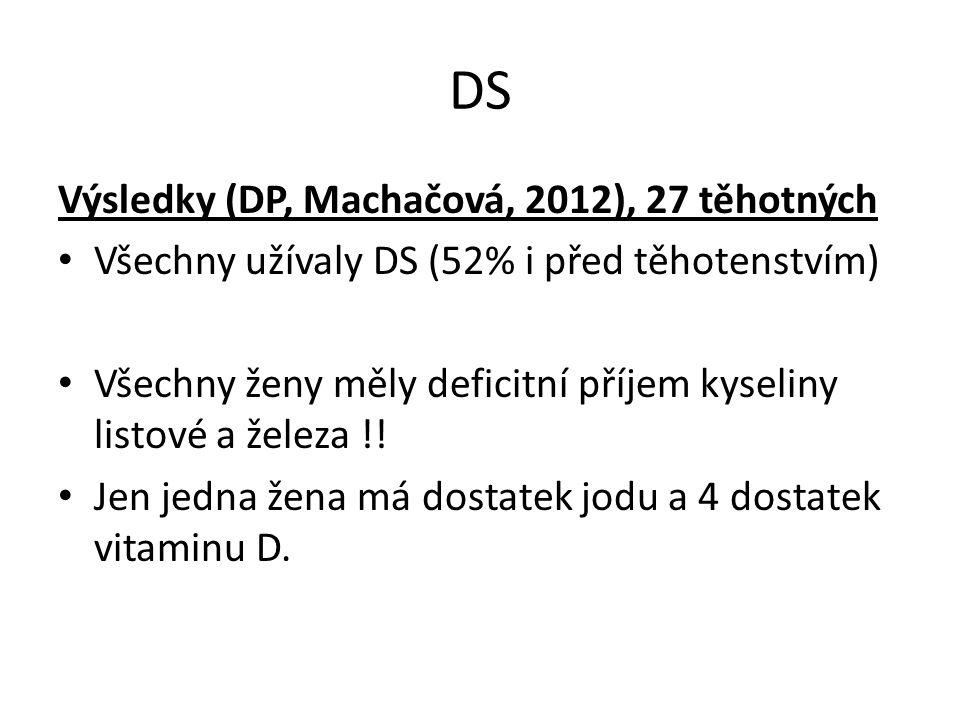 DS Výsledky (DP, Machačová, 2012), 27 těhotných