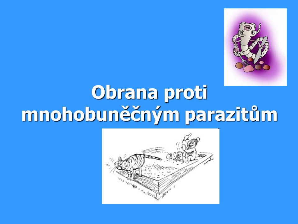 Obrana proti mnohobuněčným parazitům
