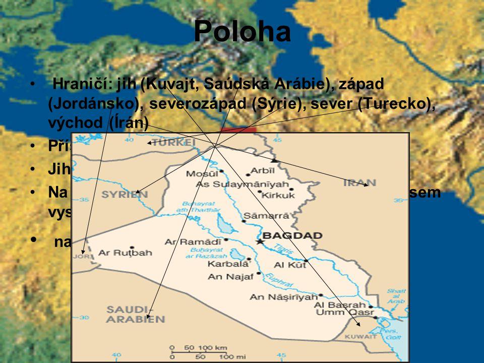 Poloha na západě se zdvihá Syrská pouštní tabule